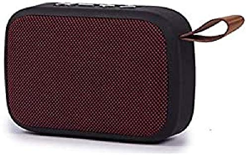 Kooltech 014279 Altavoz Radio, Despertador, Bluetooth, Rojo