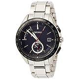 [セイコーウォッチ] 腕時計 ブライツ ソーラー電波 デュアルタイム チタンモデル SAGA241 メンズ シルバー