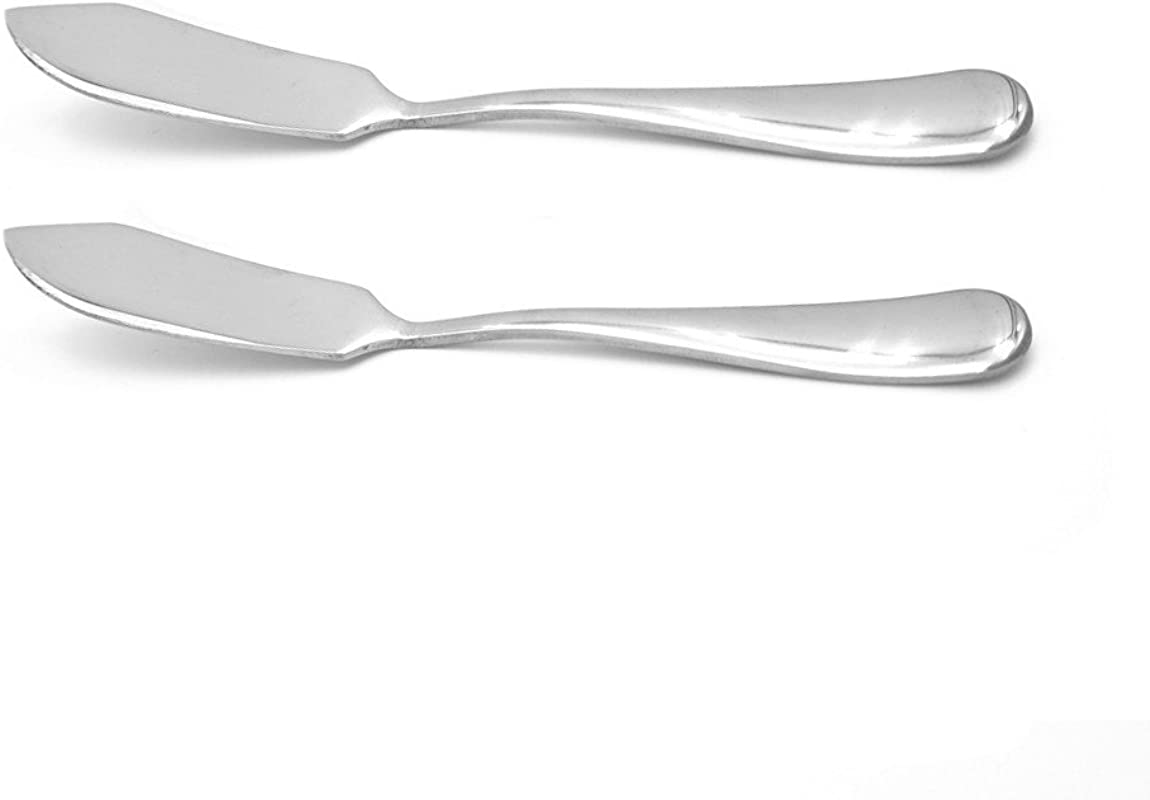 Crysto Stainless Steel Butter Knife Set Of 2 Butter Spreader Serve Your Butter Breakfast Spreads Cheese And Condiments