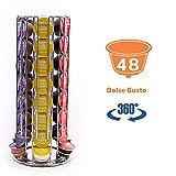 Peak Coffee Dolce Gusto D48 - Soportes para 48 cápsulas de café, Color Plateado