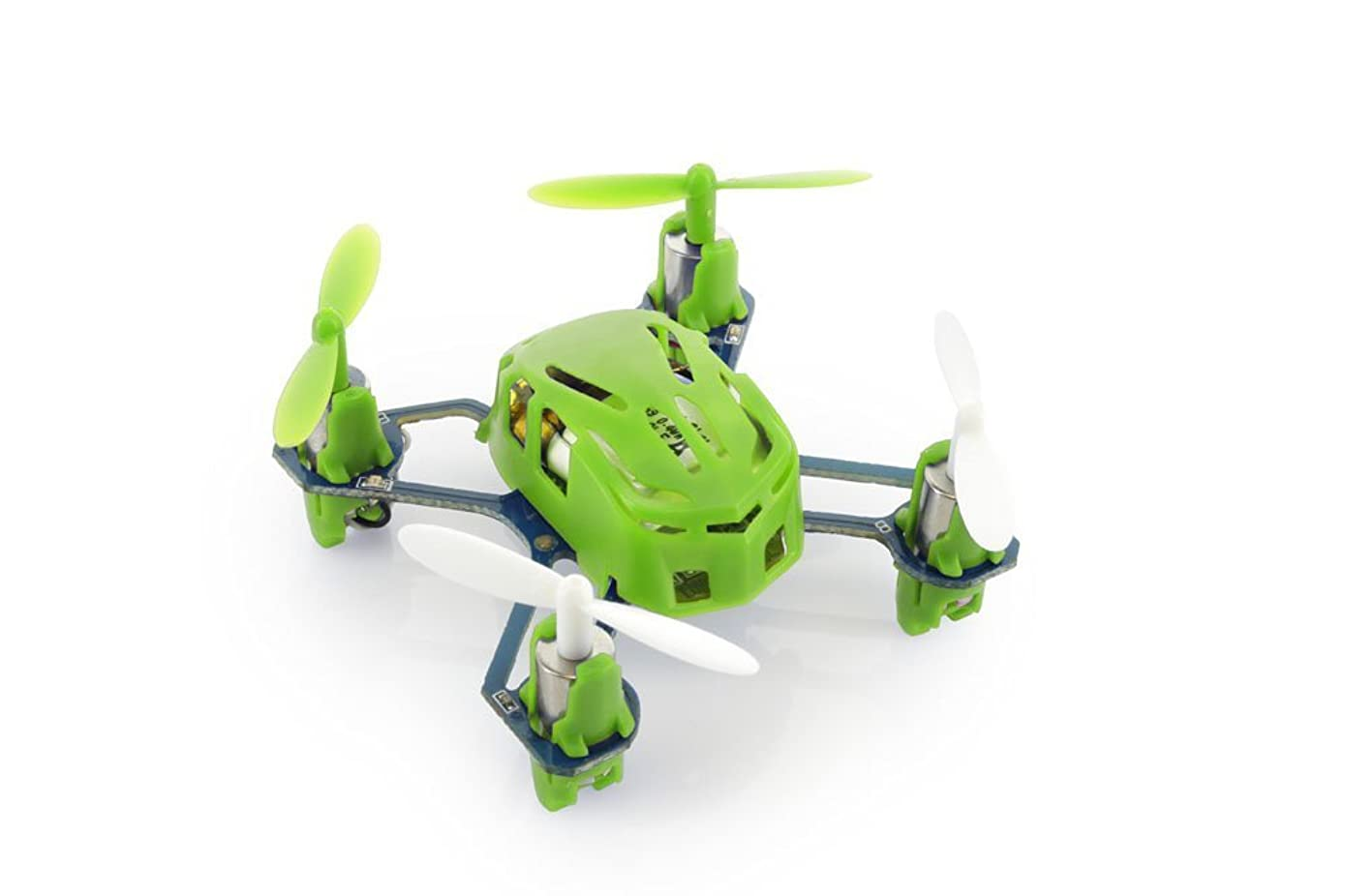 HUBSAN H111 Nano Q4 4-Channel 6 Axis Gyro Mini RC Quadcopter 2.4Ghz Radio System Mode 2 RTF- Carton Case Green