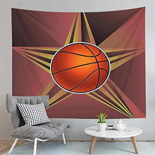 Tapiz suave suave baloncesto Fondo decorativo pared Tarot Renovación de pared decoración 180x230cm / XL