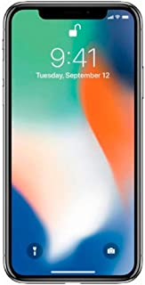 Apple iPhone X, 64GB, Silver - For GSM (Renewed)