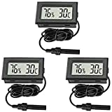Thlevel 3PCS LCD Digitale Termometro con Sonda Esterna Imper