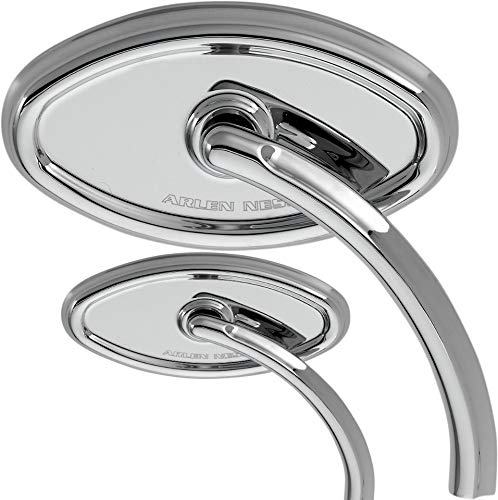 Arlen Ness Compatible with Chrome Billet Cateye Handlebar Mirror Compatible with Harley Davidson Right Side