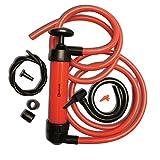 Zento Deals 3-in-1 Hand Siphon Pump Gas/Liquid/Air Manual Travel Emergency Vehicle Pump