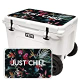 MightySkins (Cooler Not Included) Skin Compatible with Yeti Tundra Haul Cooler Lid - Just Chill | Protective, Durable, and Unique Vinyl Decal wrap Cover | Easy to Apply | Made in The USA