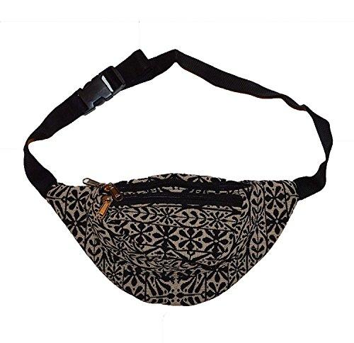 KGM Accessories Nice Jacquard katoen bloemenpatroon bum bag heuptas