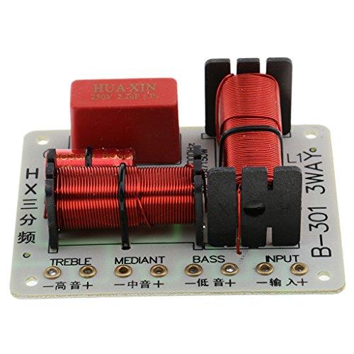 Baoblaze 150w Diviseur de Fréquence à 3 Voies Panneau de Filtre Séparation Crossover de Haut-Parleur Audio