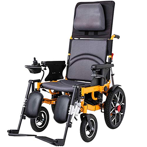 Wheelchair Scooter Eléctrico para Silla De Ruedas Eléctrico Motorizado Ligero De Viaje Plegable, Silla De Ruedas Eléctrica Segura para Viajes De Aviación Silla De Ruedas Eléctrica para Trabajo