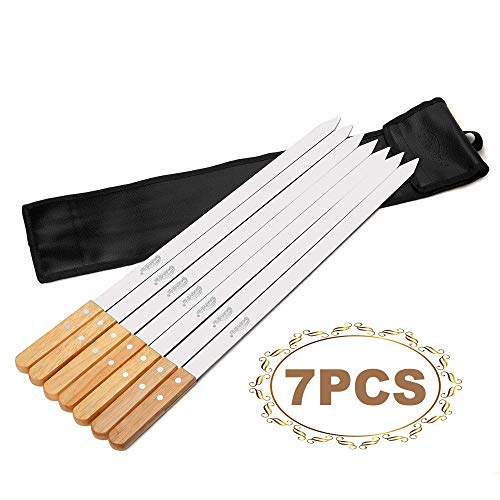 Stainless Steel Skewers with Wood Handle