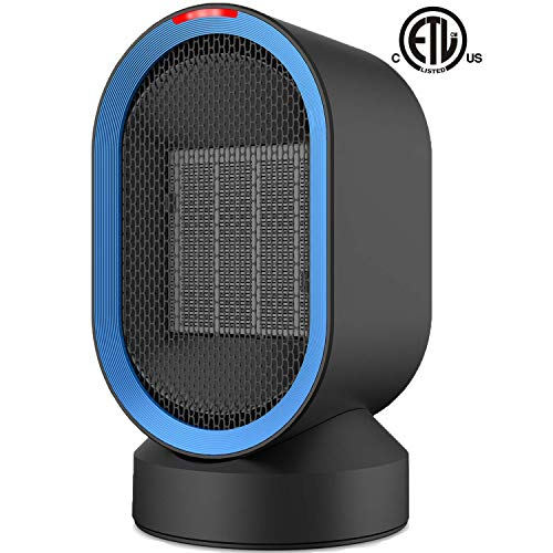 Sendowtek Space Heater Quiet Electric Ceramic Heater 2s Fast Heating Fan for Indoor Office Desktop Use PTC Portable Small Space Heater with Adjustable Thermosta Overheat & Tip-Over Protection for Home