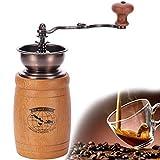 ZLSANVD Manuel Grinder Machine manuelle haut de gamme en bois Moulin à café, grain de café Moulin à Fonte Broyage de base, le...