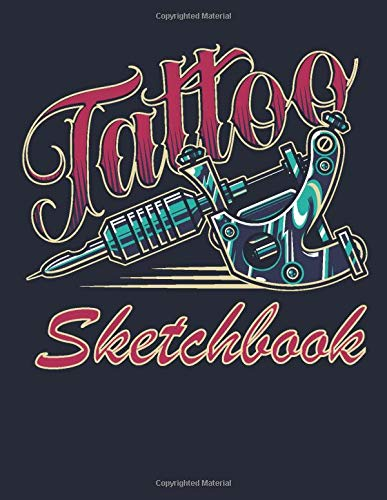 Tattoo  Sketchbook: Vintage Tattoo Cover, 300 Pages 8.5