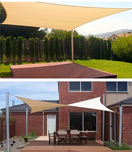 JKCTOPHOME para toldo de jardín al Aire Libre en Patio,Toldo Exterior para balcón Vela-Rough_3x4 Metros,Toldo de protección UV