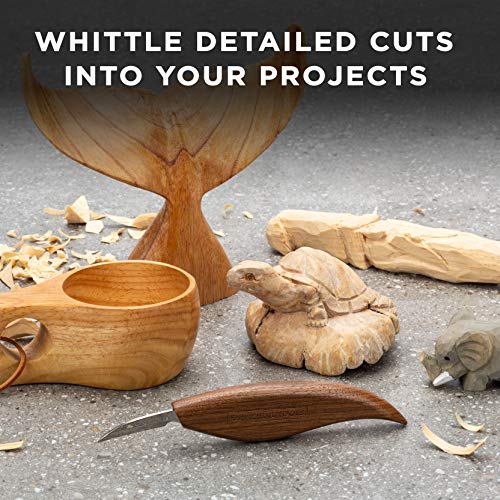 Elemental Tools Whittling Knife - Wood Carving Knife for Detail Knife Woodworking, Chip Carving Knife Woodworking, Or Add to Any Whittling Kit