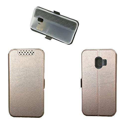 QiongniAN Coque pour Samsung SM-J260G/DS Galaxy J2 Core 2018 / SM-J260M/DS SM-J260F/DS SM-J260G / Galaxy J2 Pure SM-J260AZ Coque Housse Etui Cover Pink Gold