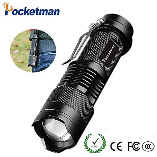Taschenlampe Pocket Man Mini 7 W 300 Lumen Tragbare Mini Q5 LED Taschenlampe Single Mode Taktische Lampe LED Taschenlampe Einstellbarer Fokus Zoomable Licht für Geschenk