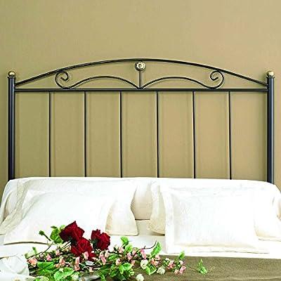 Cabecero de forja Negro Altura: 125 cm Profundidad: 4 cm Anchura: 155cm *.Objetos de decoración no incluidos.