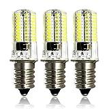 ZEEFO Ampoules LED E14 Dimmable, 4W Lumière 6000K Blanc froid Ampoule , Base De la Vis, Ampoule à Culot , 72X4014 SMD, équivalente à ampoule halogène 35-40w( lot de 3 )