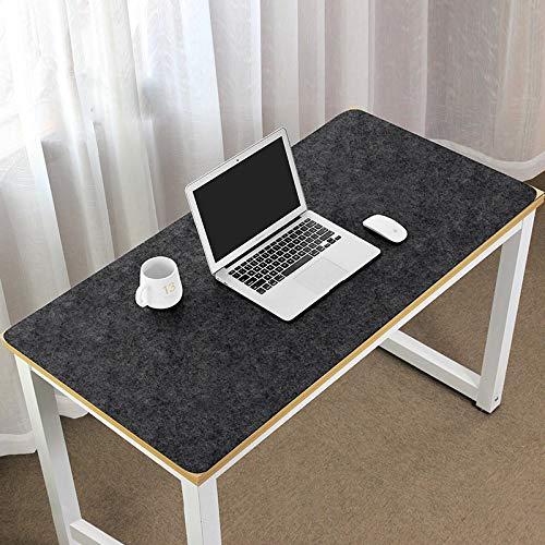 Uitgebreide gaming-muismat Mat Groot Waterdicht Effen Kleur Bureau-pad Antislip dik Thuis Schrijfblok Desktop-mat voor computer, pc, bureau,Black,90 * 45cm