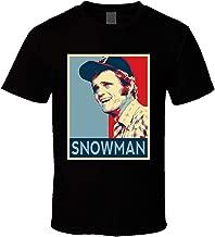 Qonnon Men's Black Short Sleeve Generic Cotton Jerry Reed Snowman Smokey Hope Obama Joe T-Shirt