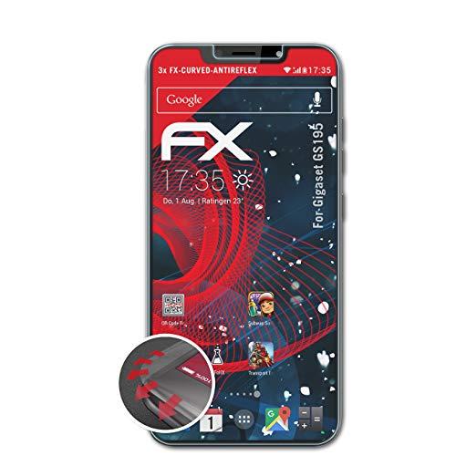 Preisvergleich Produktbild atFolix Schutzfolie kompatibel mit Gigaset GS195 Folie,  entspiegelnde und Flexible FX Displayschutzfolie (3X)