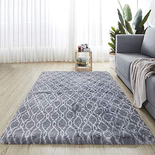 DOROCH Alfombras para Sala de Estar Nordic Color Mezcly Alfombra Simple Moderno Moderno Dormitorio Largo Dormitorio con Cama Medio Ambiente Amplio (Color : ZS1 13, Size : 80x160cm 31x63inch)