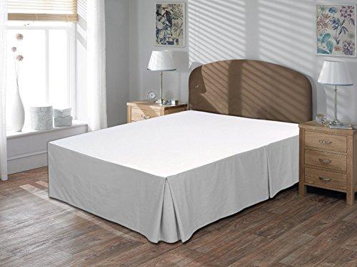 """Comodidad beddings 1pieza cubre canapé 17""""drop Longitud de 600hilos Euro rey IKEA tamaño 100% algodón egipcio sólido, plateado, Euro KingIKEA"""
