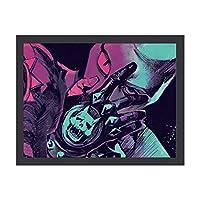 """JOJO 第3部承太郎隊 インテリア キャンバス 絵画 家の壁 装飾画 壁飾り 壁ポスター パネル インテリア 装飾 ソファの背景絵画 12"""" x 16"""" 雰囲気 癒し 外枠付き"""