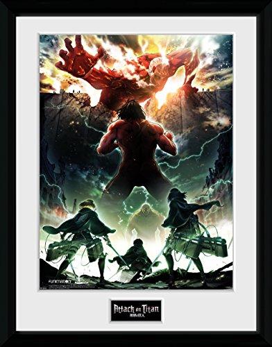 GB Eye Attack on Titan Season 2, Key Art Kunstdruck, gerahmt, 30x 40cm, verschiedene