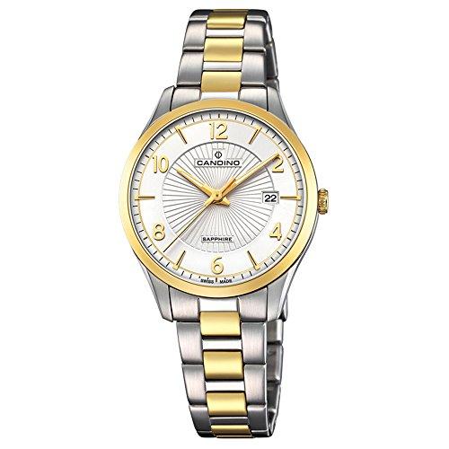 Candino Armbanduhr Damen C4632/1 Elegant Analog Edelstahl Uhr Silber D2UC4632/1 EIN Geschenk zu Weihnachten, Geburtstag, Valentinstag für die Frau