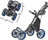 CaddyTek Caddycruiser One Version 8 - One-Click Folding 4 Wheel...