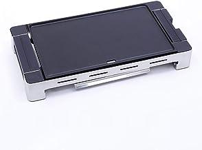 Electrodoméstico de multi-función Grill antideslizante Barbacoa Bandeja Horno comercial eléctrico sin humo de barbacoa, Negro