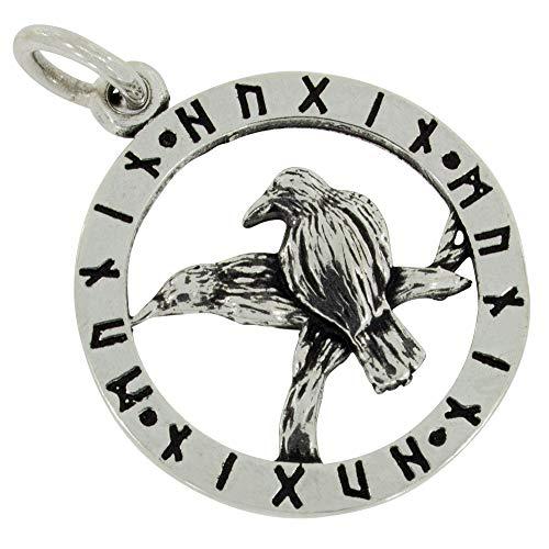 AFP Anhänger Odins Raben Runen 925 Sterling Silber AS-681
