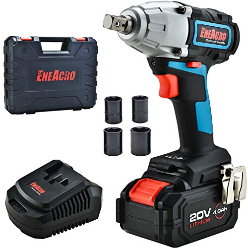 ENEACRO 20V Cordless Impact Wrench Brushless Motor with 3 Speed Switch,1/2 Inch Detent Anvil