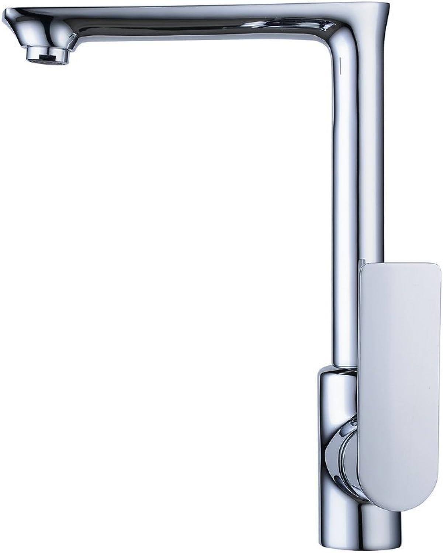 Badezimmer-Küche-Wannen-Hahn, 360-Grad-moderner Stil Rotary-Hahn-Messing Wei Chrom-Hahn Hei Kalt Mixing.