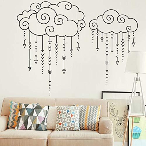 Nube de lluvia flecha voladora bebé flecha geométrica pared textura de nube étnica