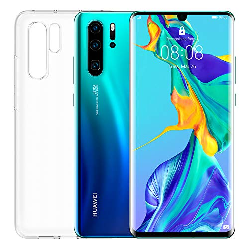 "Huawei P30 Pro (Aurora) Smartphone + Transparent Cover, 8GB RAM, 128GB Memory, 6.47 Display ""FHD +, Kirin 980 Processor, Quadruple Camera 40 + 20 + 8MP, TOF Sensor, SuperZoom 50x, [Italy]"