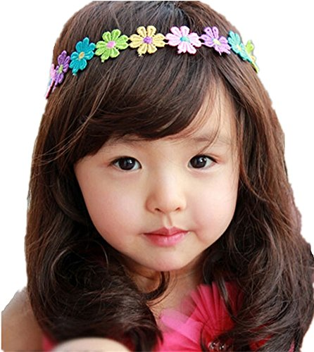 QandSweet Baby Girls Long Hair Wig Child Curly Hair Wigs for Little Girl and Kids Take Photo Cosplay (Dark Brown, 44-48CM)