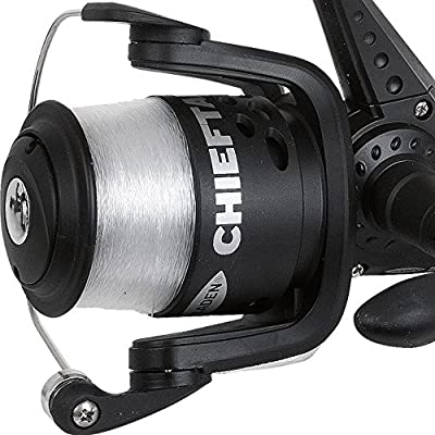 FLADEN CHIEFTAIN RD20 / RD30 / RD40 / RD50 & FD60 (2BB) Front & Rear Drag Options (The All Rounder) Black Fixed Pre Spool Spinning Reel with Spare Spool from FLADEN