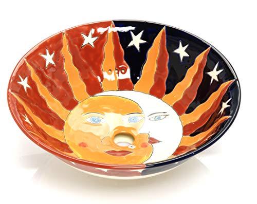 Chiquita - Lavabo Mexicain en céramique - Cerames | Vasque de lavabo 40,5 cm x 15 cm | Lavabo en Mexique pour salle de bain, WC d'invités