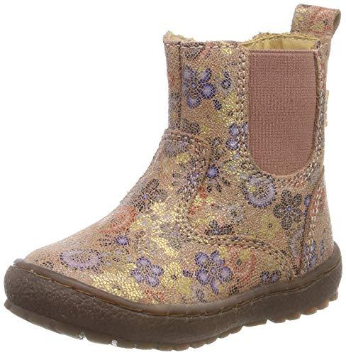 Bisgaard Mädchen Ebba Chelsea Boots, Beige (Beige Flowers 3015), 28 EU
