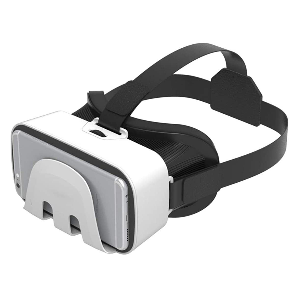 VR Headset,VR Goggles 120° View Moives&Games VR Glasses, VR Headset for iPhone Compatible with 4.7-6.0 Inches iPhone XS/X/8/8 Plus/7/7Plus/6/6Plus/5, VR Headset for Android Phone Like Samsung (White)