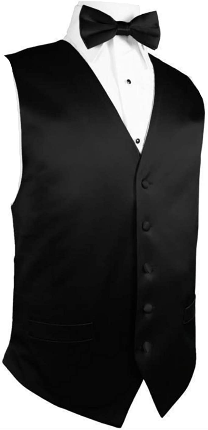 Luxury Black Silk Beauty products Tuxedo Vest and Long 4Xlarge Size Ranking integrated 1st place Bow Tie