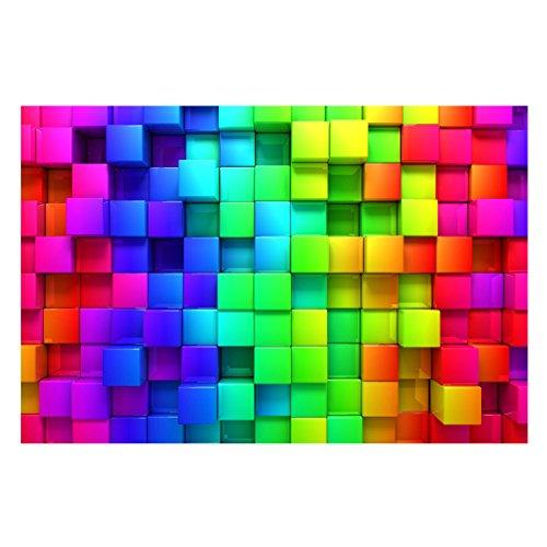 Bilderwelten Fotomural Premium - 3D Cubes - Mural apaisado papel pintado fotomurales murales pared papel para pared foto 3D mural pared barato decorativo, Dimensión Alto x Ancho: 225cm x 336cm