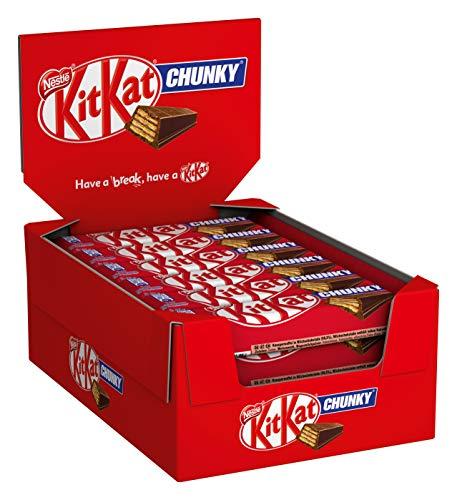 Nestlé KITKAT ChunKy Classic, Schokoriegel in Milchschokolade, mit Vollmilchschokolade & knuspriger Waffel, Multi-Pack, 24er Pack (24 x 40g)