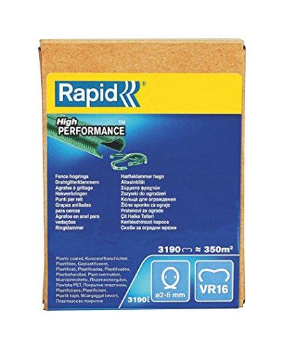 Rapid, 40108809, Agrafes de grillage galvanisées vertes, VR16, 2-8 mm, 3190 pièces, Haute qualité Vert