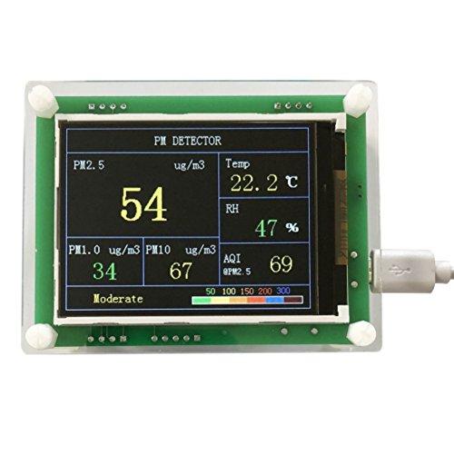 2,8-Zoll-Auto PM2.5 Luftqualitäts-Detektor Digital Luftpartikel messen Meter (Farbe: grün)