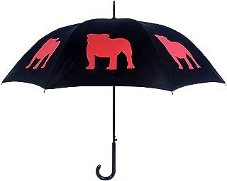 San Francisco Umbrella Co, Black Red English Bulldog Umbrella